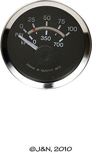 EGS21P100-12 - F.W. Murphy, Oil Pressure Gauge, Electric, 0-100 PSI / 0-700 kPa, 12V -