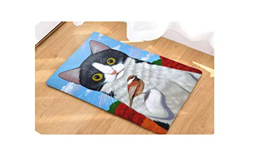 5080Cm 4060Cm Cute Cat Pattern Anti Slip Carpet Door Mats Doormat Outdoor Kitchen Living Room Floor Mat Rug,14