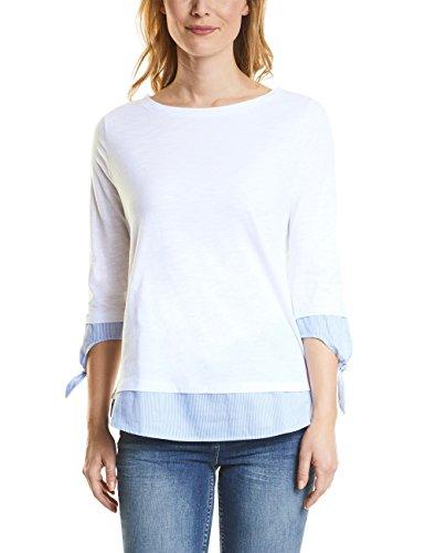 Cecil T-Shirt Donna Multicolore (White 10000)