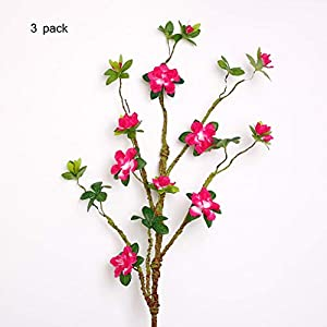Sarazong Artificial Rhododendron Flower,Decoration Everlasting Flower Floor Flower Arrangement Fake Flower Living Room Home FurnishingArtificial Flower,C 54