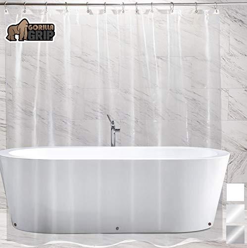 Gorilla Grip Premium Bathroom PEVA Shower Curtain Liner
