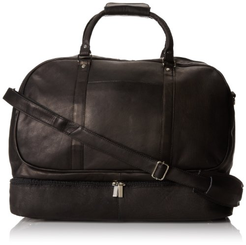 David King & Co. Duffel with Bottom Compartment, Black, One Size by David King & Co