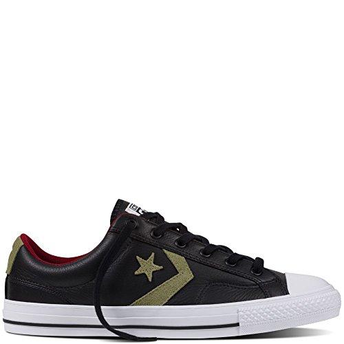 Zapatillas Converse – Star Player Leather Ox negro/caqui/rojo talla: 44,5
