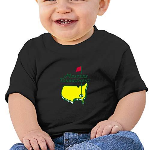 Masters Tournament Augusta National Golf Cotton Baby Boys T Shirts,Soft Short Sleeve Crewneck Toddler T-Shirts Black