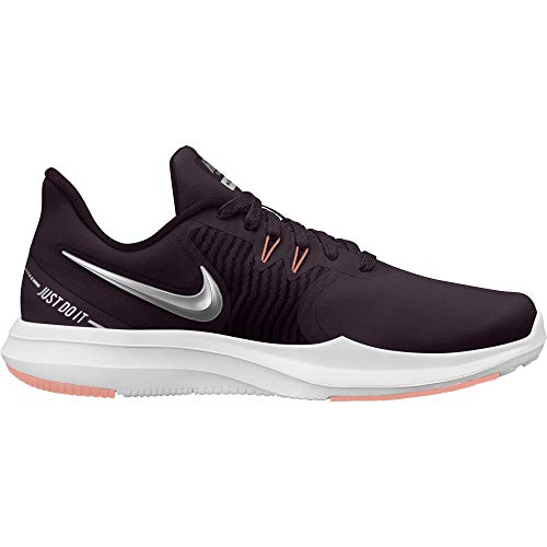 - Nike Women's in-Season TR 8 Training Shoe Burgundy Ash/Metallic Silver/Pink Tint Size 8 M US