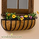 XL Scroll Hay Rack Window Basket w/ XL Coco Liner - 72 Inch