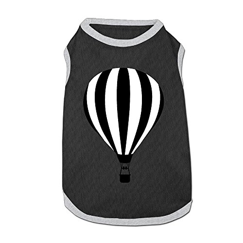 Jmirelife Pet Shirts Hot Air Balloon Black Lovely Pet Dog Puppy Polo T-Shirt Clothes ()