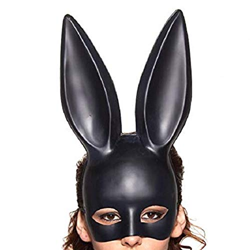 S SUNINESS Halloween Rabbit Mask Black for Women Masquerade Eve Party Costume Accessory -