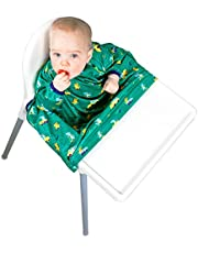 Bibado Wipe Clean Baby & Toddler Weaning Bib Coverall Attaches to Highchair & Table Waterproof…