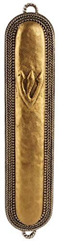 Quest Collection Antique Braid Mezuzah - Antique Mezuzah
