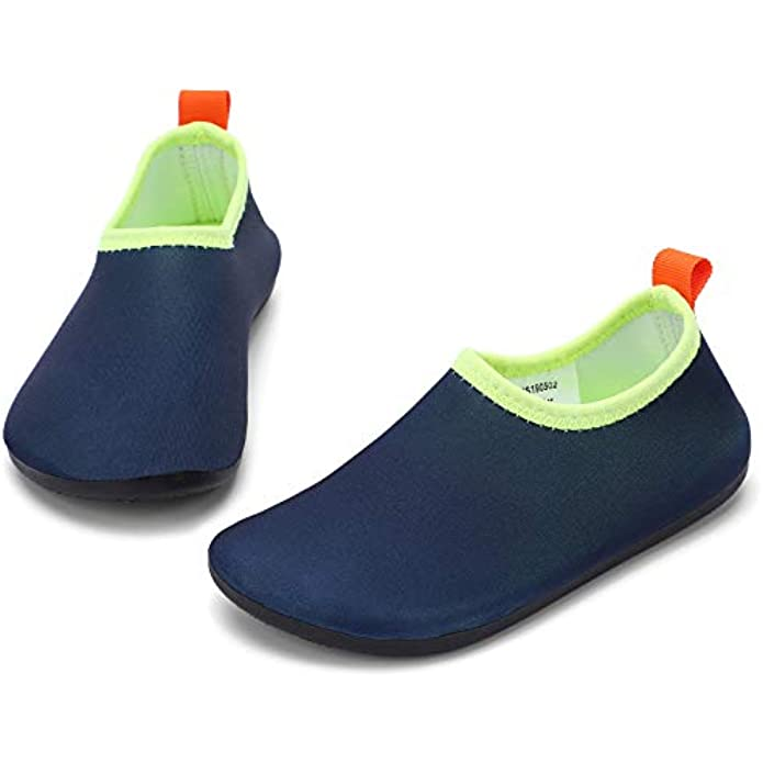 RANLY & SMILY Toddler Water Shoes Quick Dry Non-Slip Water Skin Barefoot Sports Swim Shoes Aqua Socks for Boys Girls Kids