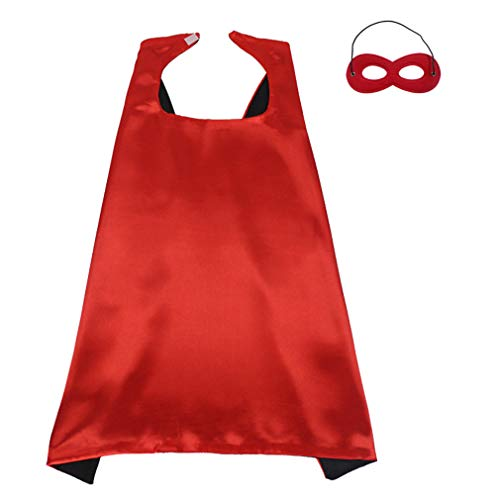 Superhero Capes and Mask Set for Kids Halloween Costumes Cosplay DIY Dress up Flash Costume ()