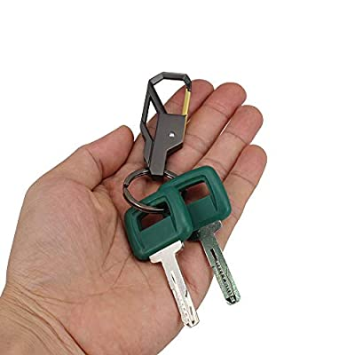 HKOO Laser Cut Heavy Equipment Ignition Key 11039228 for Volvo Articulated Hauler Models A25D A35C A35D A40 A40D,2 Keys with Exquisite Keychain: Garden & Outdoor