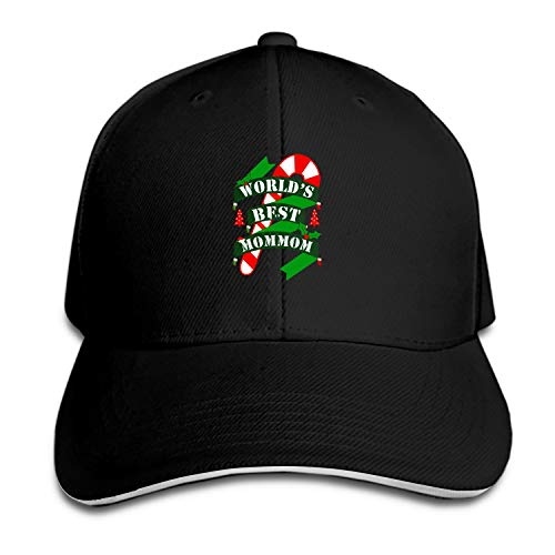 Unisex World's Best Mommom Cool Christmas Baseball Cap Dad Hat Peaked Flat Trucker Hats