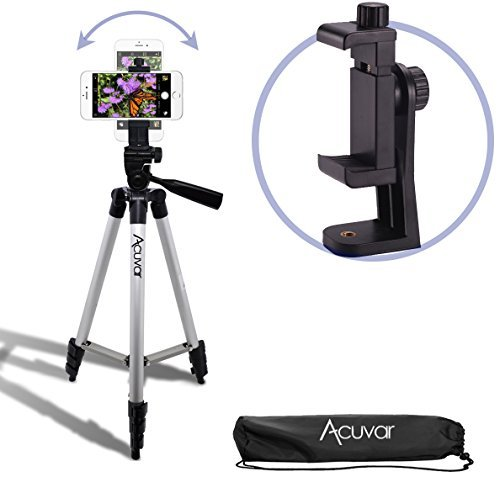 eCostConnection 50 Inch Aluminum Camera Tripod + Universal Tripod...