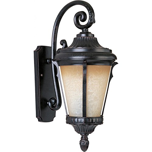 Maxim 86015LTES Odessa EE 1-Light Outdoor Wall Lantern, Espresso Finish, Latte Glass, GU24 Fluorescent Fluorescent Bulb , 40W Max., Wet Safety Rating, Standard Dimmable, Glass Shade Material, 1344 Rated Lumens