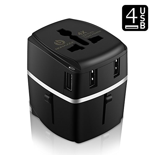US to EU Europe and Universal Power Adaptor Travel Plug Converter - 5