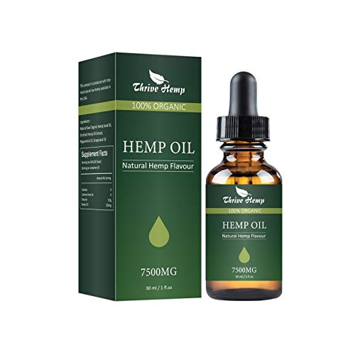 Hemp Oil for Stress Relief & Anxiety Relief 7500MG Premium Hemp Complex Made in USA Anti-Inflammatory & Immune Support 100% Natural & Safe Omega 3, 6 & 9 Better Sleep & Mood (Best Oils For Stress)