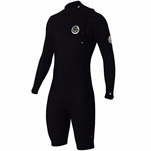 Rip Curl E Bomb Zip Free 2/Glued & Long Sleeve Spring Suit, Black/Black, X-Large