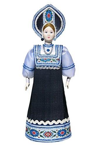 Large Porcelain Doll - Russian Porcelain Nastenka Costume Doll Large Souvenir Costume Fashion Girl
