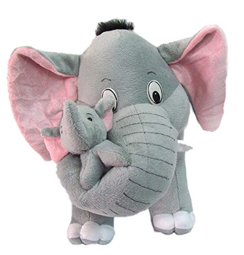 SARIKA TOYS Mother Elephant with Two Babies   40 cm  Grey