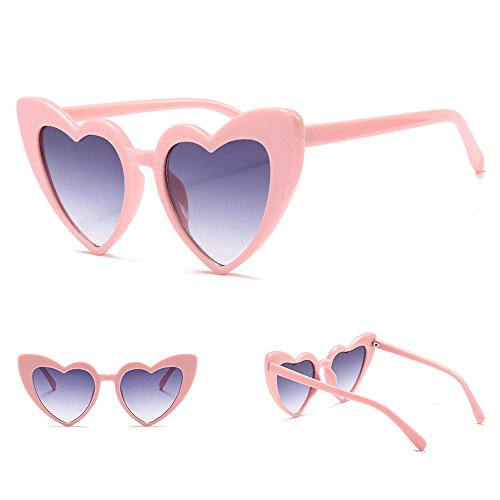 en forme lunettes marque de femmes de lunettes designer soleil soleil Dames de 6 LOVE mode coeur d4pnIwx45q