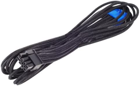 Amazon.com: SilverStone Black Sleeved PSU Cable for One PCI-E 8pin (6+2) PP06B-2PCIE55: Computers & Accessories