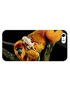 3d Full Wrap Case for iPhone ipod touch4 Animal Golden Lion Tamarin Monkey