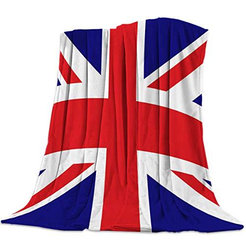 (Advancey The Union Jack Flag Flannel Fleece Throw Blanket Lightweight Cozy Bed Sofa Blankets Super Soft Fabric,39x49 inch )