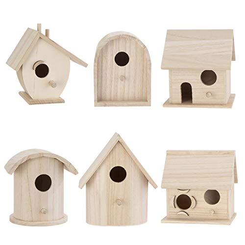 Bulk Buy: Darice DIY Crafts Wood Birdhouse Wren Promo Assortment 5-7 inches each (6-Pack) 9180-09