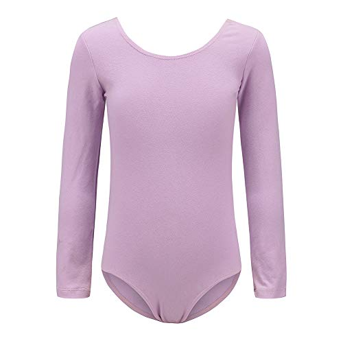 - Ueiku Girls' Team Basic Long Sleeve Leotards | Ballet and Gymnastics Leotard for Kids | Athletic Dancewear or Bodysuit for Toddlers | Classic One-Piece Costumes for Little Girl 2-12 Years Old | Purple