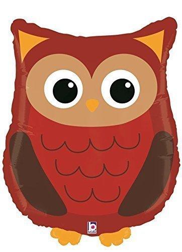 Woodland Owl Shaped 26 Supershape Foil Balloon by Happi Woodland