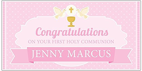 First Holy Communion Banner Decoration Personalized Backdrop Party Decoration