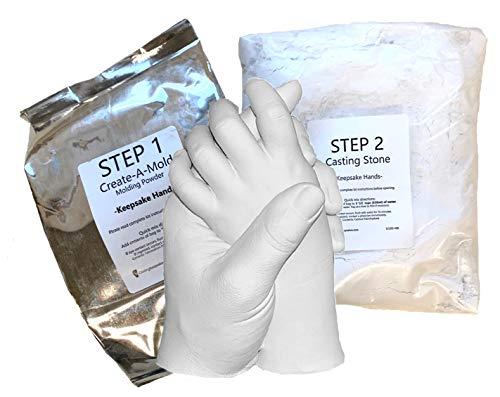 Life Casting -Refill Powders - for Luna Bean Keepsake Hands Plaster Statue Kit (Step 1 & Step 2)