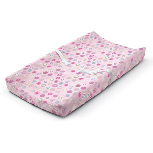 Summer Infant Ultra Plush Changing Pad Cover, Pink Swirl