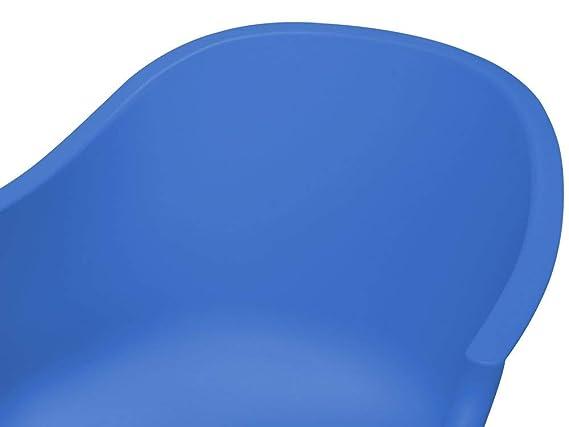Beliani Silla Mecedora Color Azul Harmony: Beliani: Amazon ...