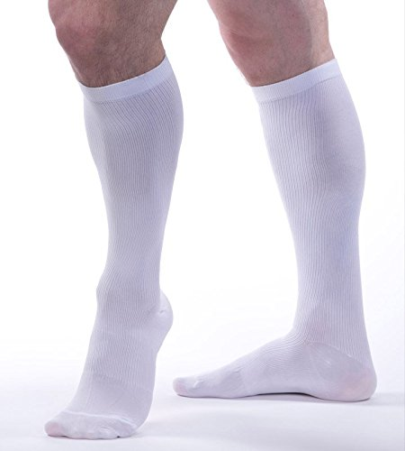 Allegro Men's 15-20 mmHg Essential 103 Ribbed Compression Support Socks (Allegro Fabrics)