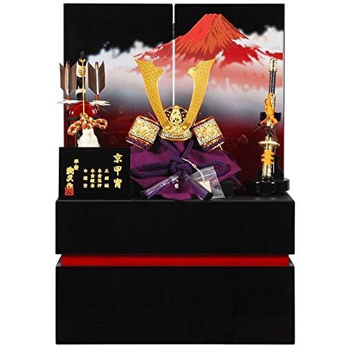五月人形 兜 収納飾り 武久 高貴 黒/赤塗 幅40cm [sb-16-133] B07N8MNZMS