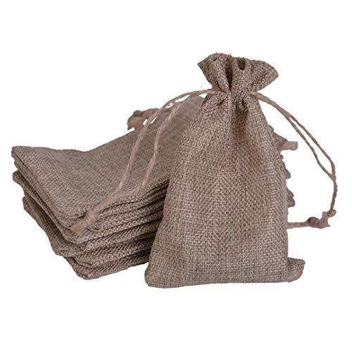 Baitaihem 25Pcs Faux Burlap Bag Drawstring Gift Bags 4