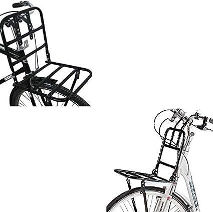 Megaprom Fahrrad Gepäckträger Vorne Fahrradgepäckträger Frontgepäckträger Für 24 28 Hollandrad In Schwarz Bekleidung