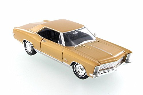 Welly 1965 Buick Riviera Grand Sport, Gold 28072D - 1/24 Scale Diecast Model Toy Car but NO -
