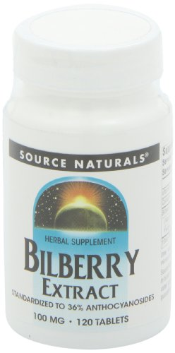 Source Naturals Bilberry Extract 100mg, Standardized Botanical Antioxidant, 120 Tablets by Source Naturals (Image #8)