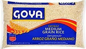 (Goya Enriched Medium Grain Rice 80 Oz. Pack Of)