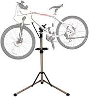 DoCred Bike Repair Stand - Home Portable Bicycle Mechanics Workstand Height Adjustable Aluminum Alloy Foldable