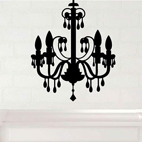 Chandelier Halloween Decorations Black Melting Candles Vinyl Wall Decal - Halloween Fun - Fall Decor