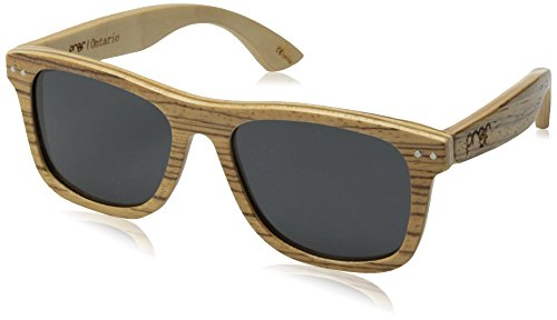 Proof Eyewear - Ontario Wood, Wood Sunglasses, Zebra wood , 55 - Proof Wood Sunglasses