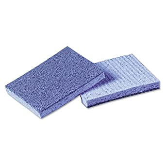 """Scotch-Brite 9489 Soft Scour Scrub Sponge, 5"""" Length x 3-1/2"""" Width, Blue (4 Bags of 10)"""