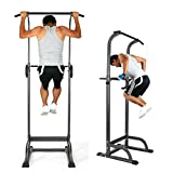 Oanon Full Body Power Tower Adjustable Power Tower Strength Power Tower Fitness Workout Station(Black)