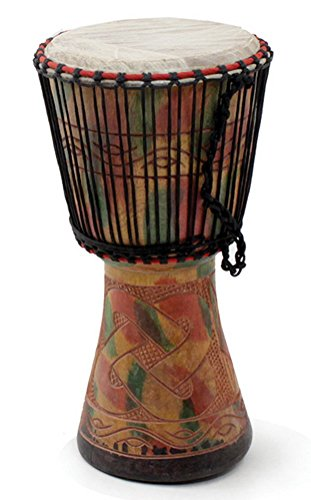 """16""""-18"""" Authentic Medium Size Handmade Djembe Drum - Traditional African Musical Instrument"""