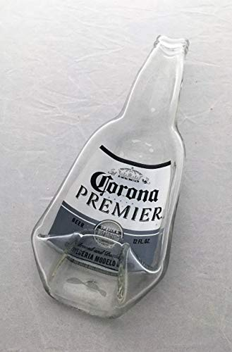 Corona Premier Beer bottle - gently slumped into a spoon rest or bowl